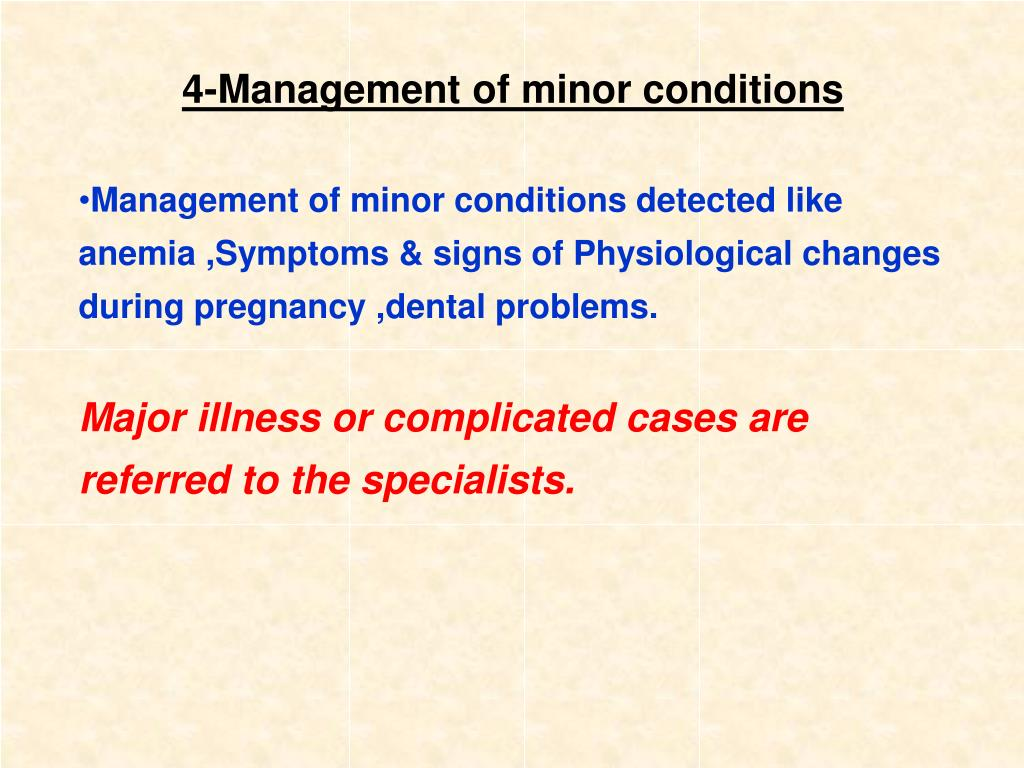 4-Management of minor conditions