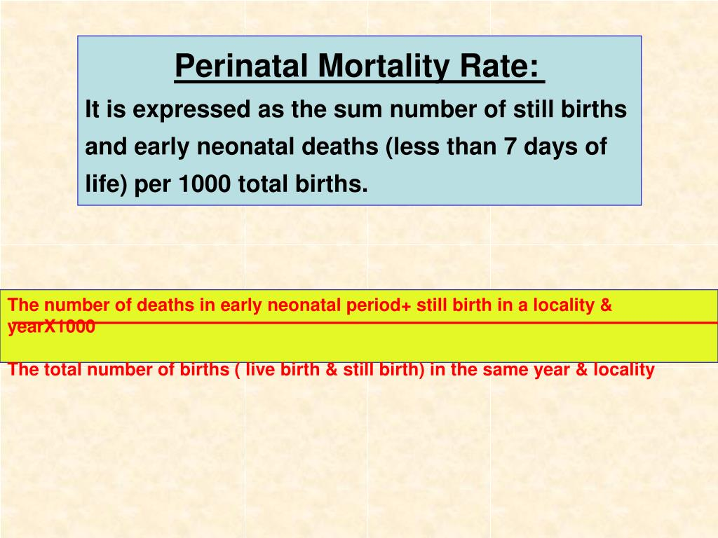 Perinatal Mortality Rate: