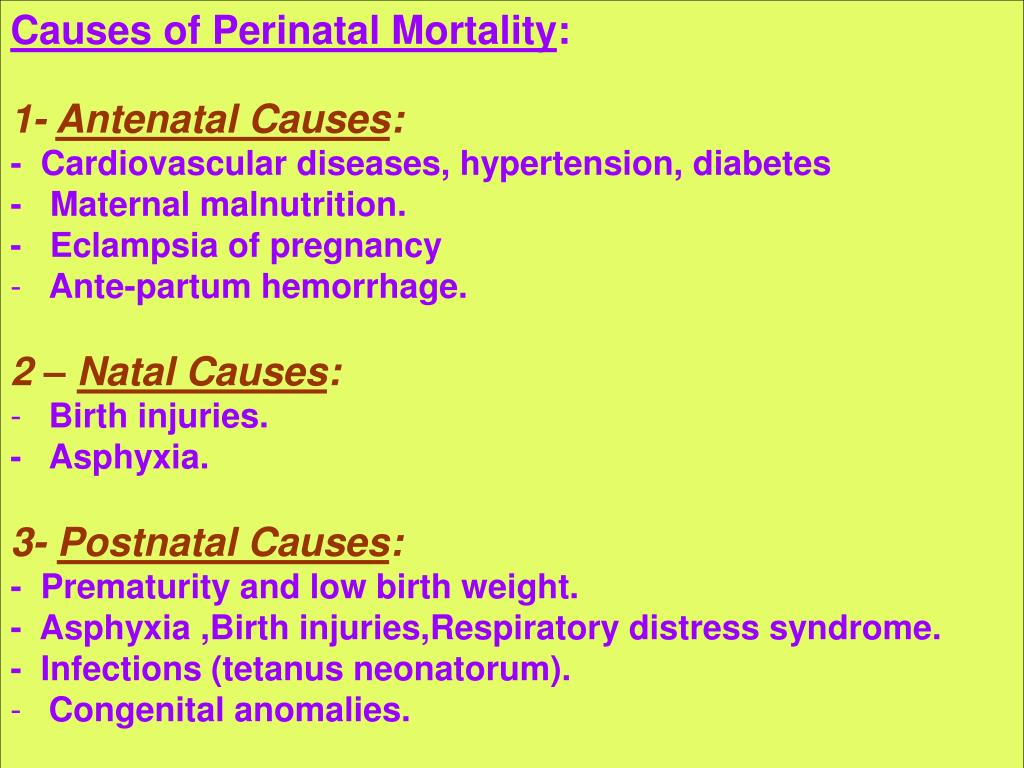 Causes of Perinatal Mortality