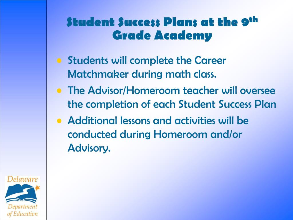 Student Success Plans at the 9
