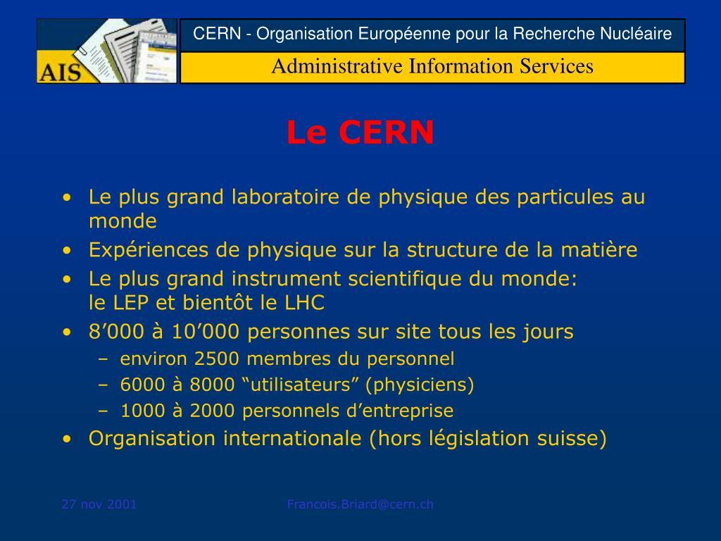 Le CERN