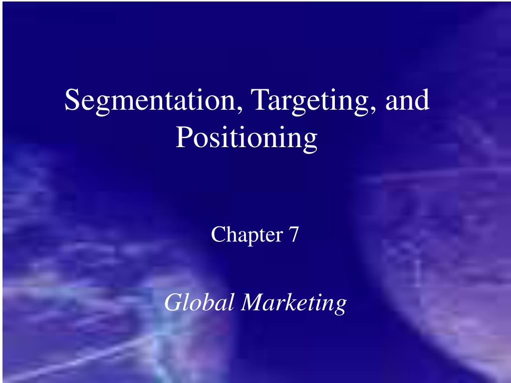 segmentation targeting and positioning customer Vodafone is one of the biggest names in wireless technology, and is continuing to grow a solid, loyal customer base because the company offers.