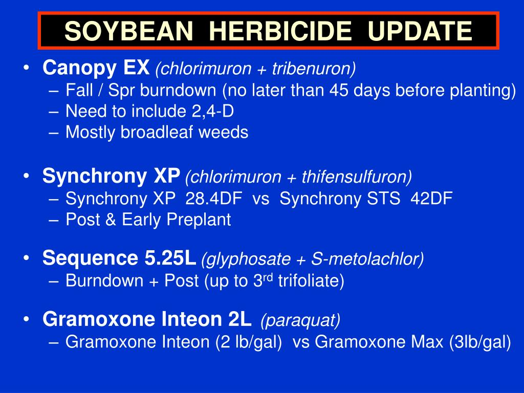 SOYBEAN  HERBICIDE  UPDATE