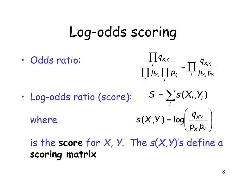 Log-odds scoring