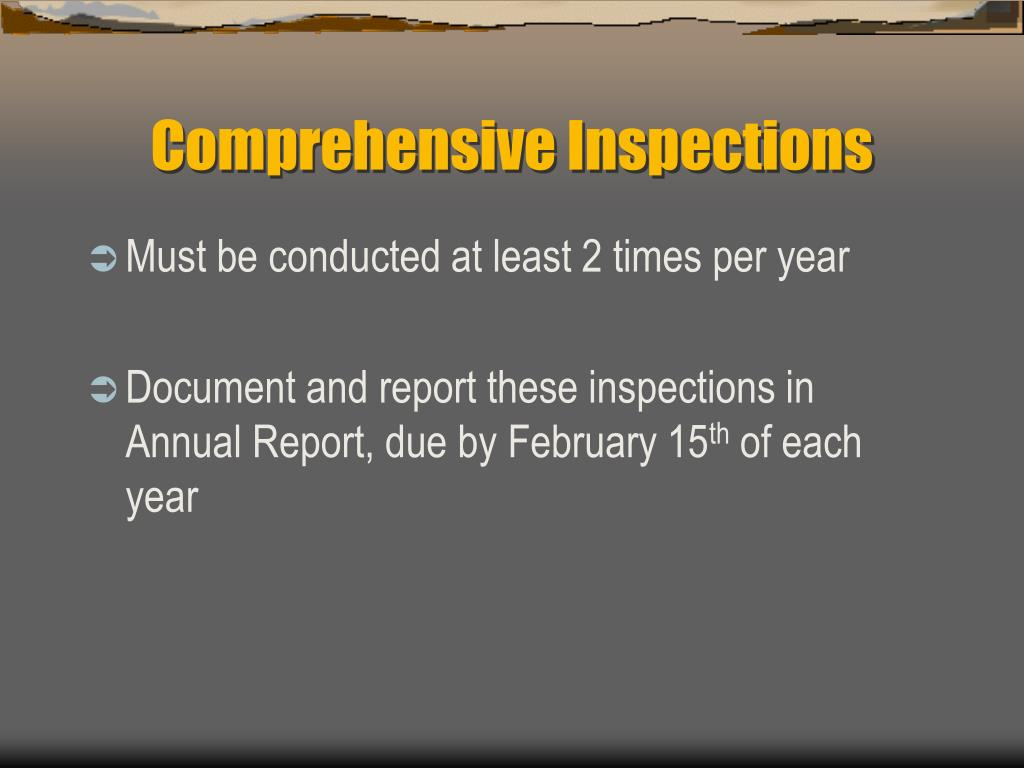 Comprehensive Inspections