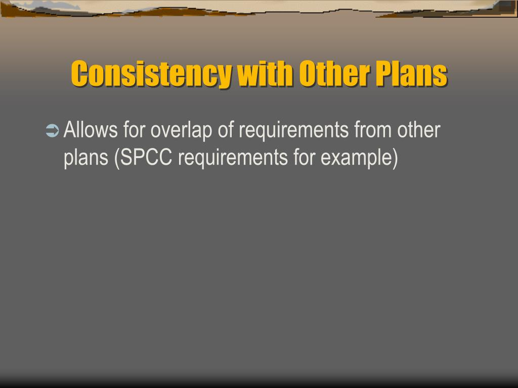 Consistency with Other Plans