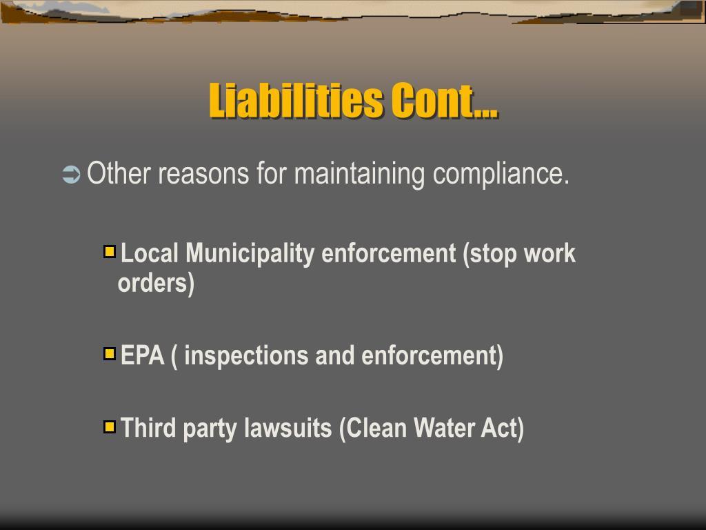 Liabilities Cont…