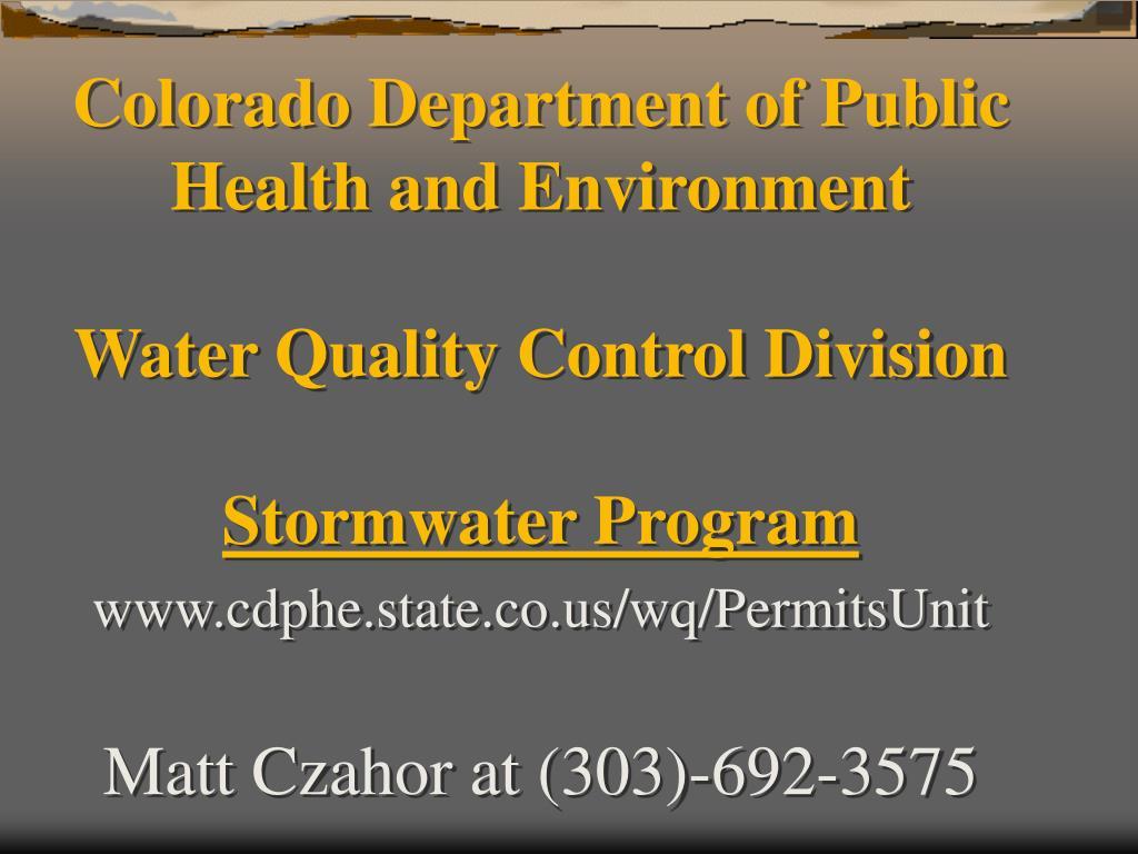 Colorado Department of Public
