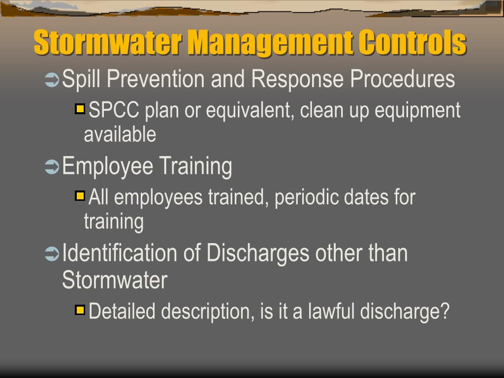Stormwater Management Controls