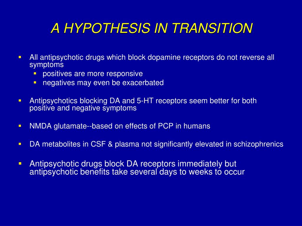 A HYPOTHESIS IN TRANSITION