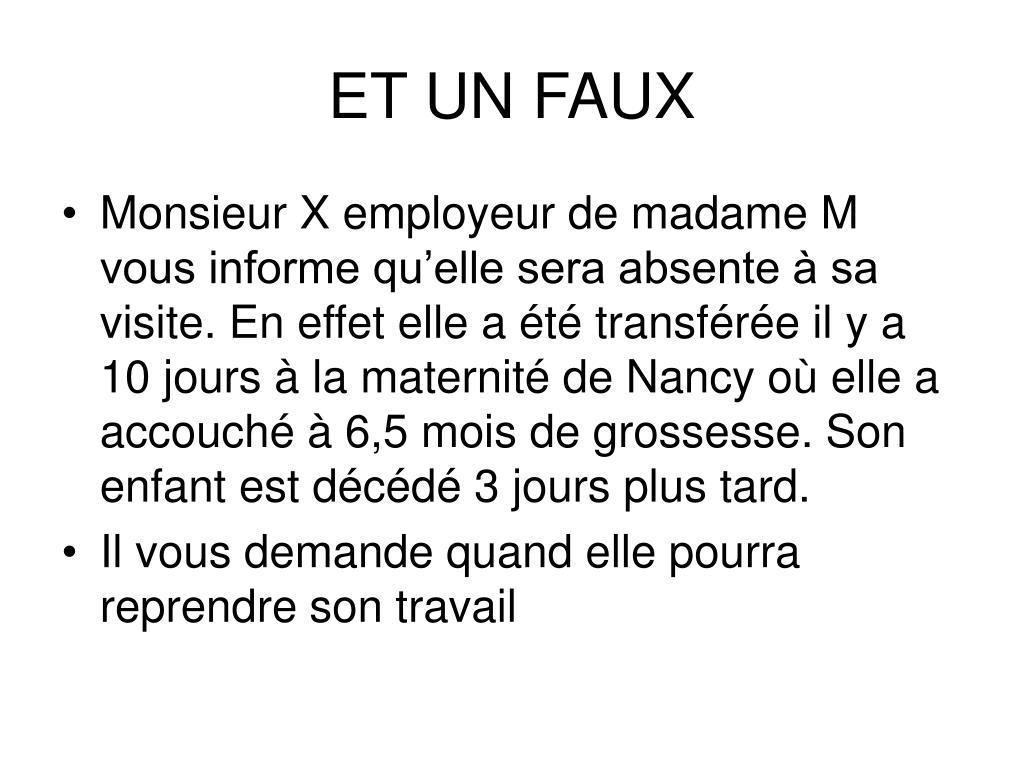ET UN FAUX