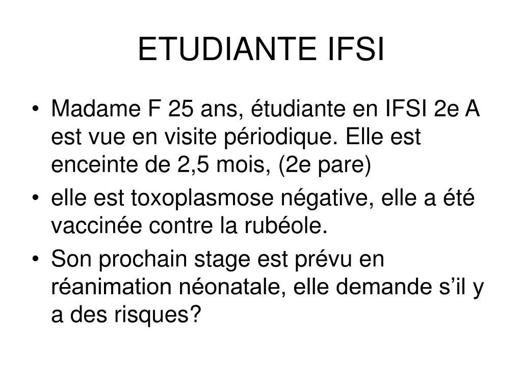 ETUDIANTE IFSI