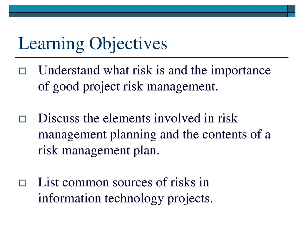 management and learning objective Learning goals and objectives degree will be highly skilled in their understanding of marketing strategy and management objectives learning objective 11.