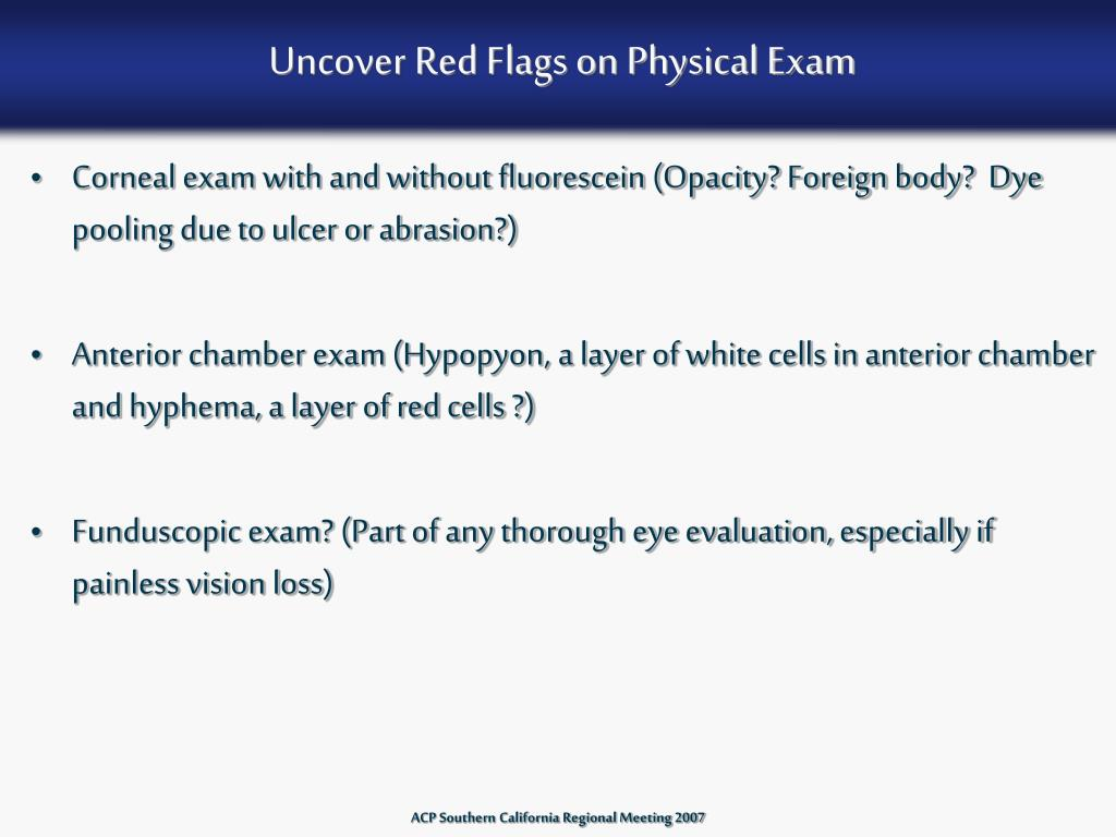 Uncover Red Flags on Physical Exam