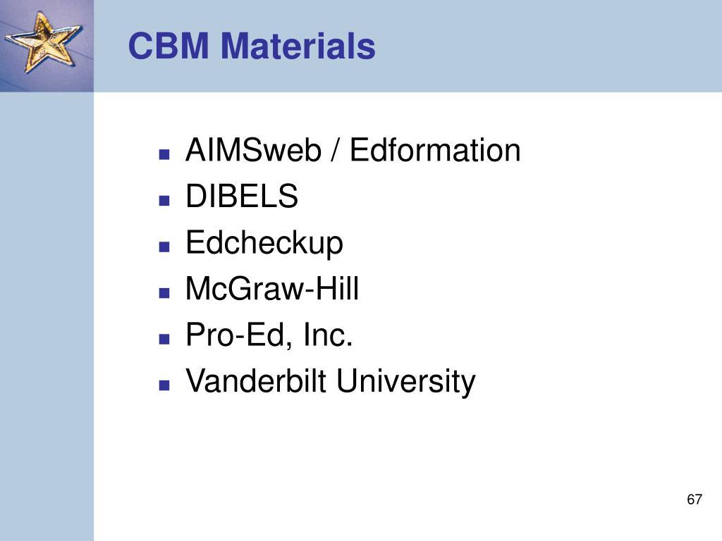 CBM Materials