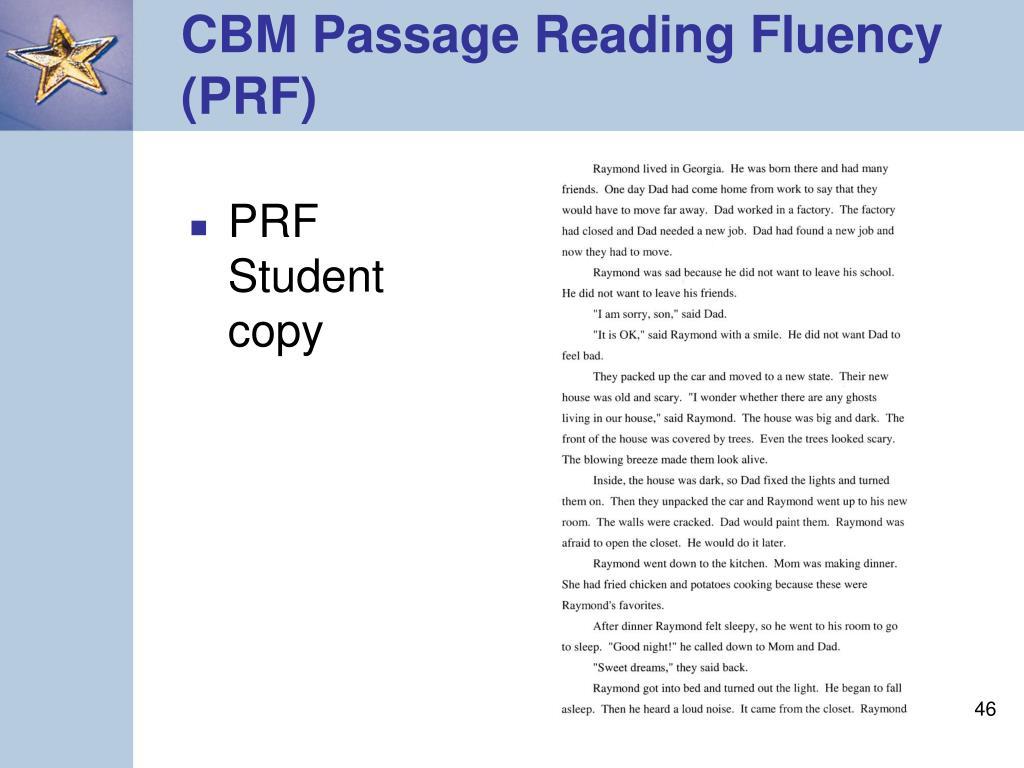 PRF Student copy