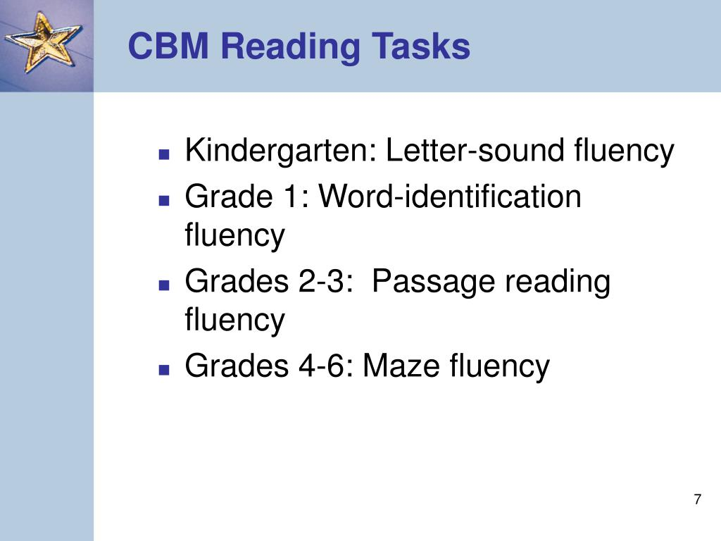 CBM Reading Tasks