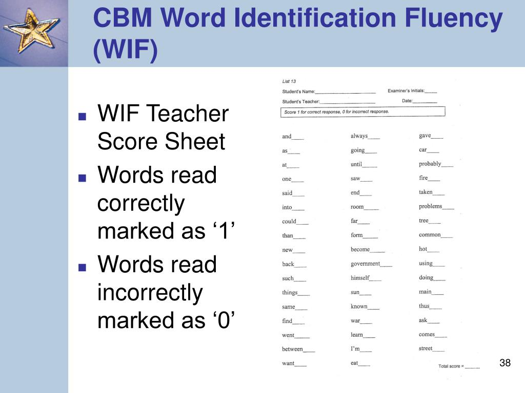 WIF Teacher Score Sheet