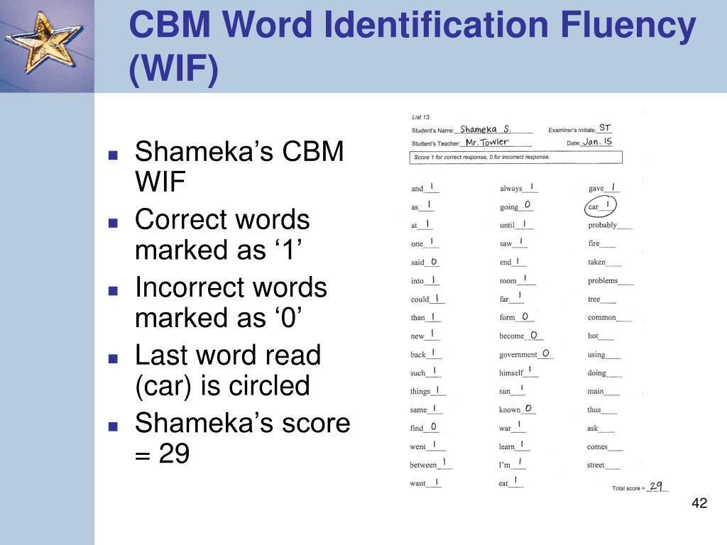 Shameka's CBM WIF