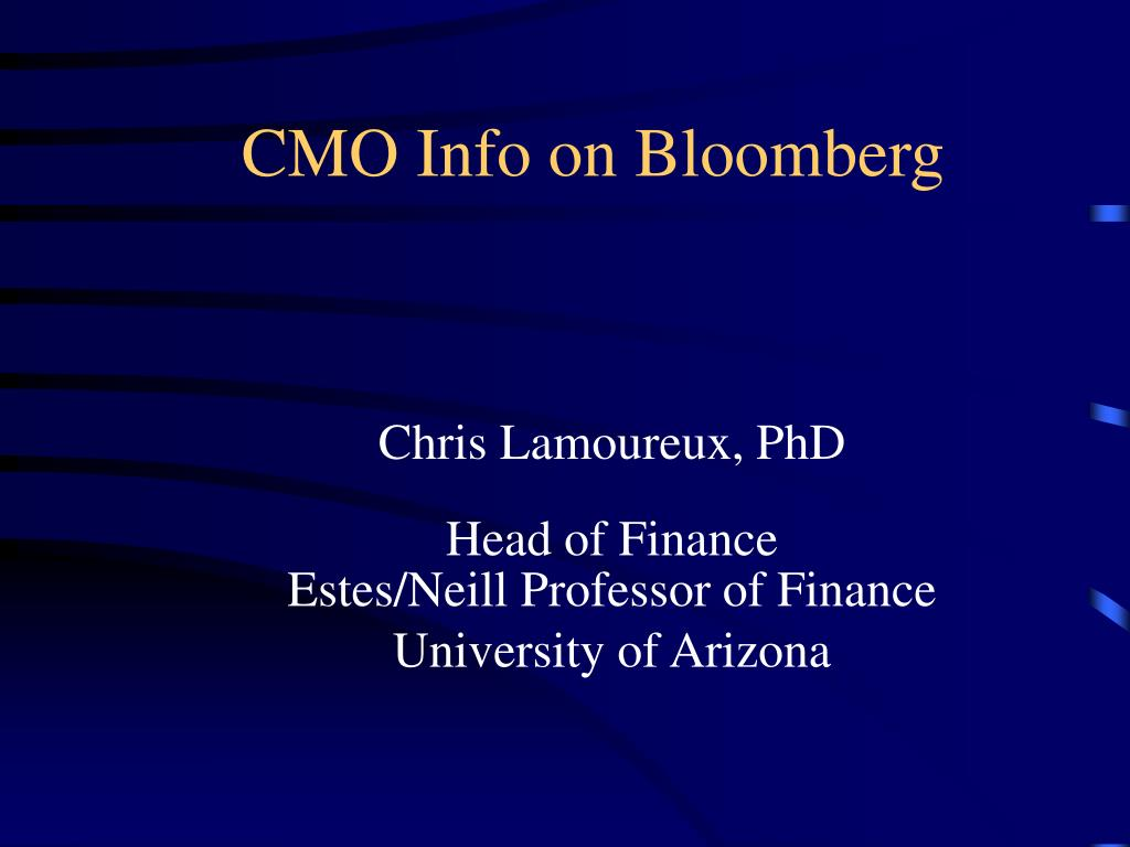 CMO Info on Bloomberg