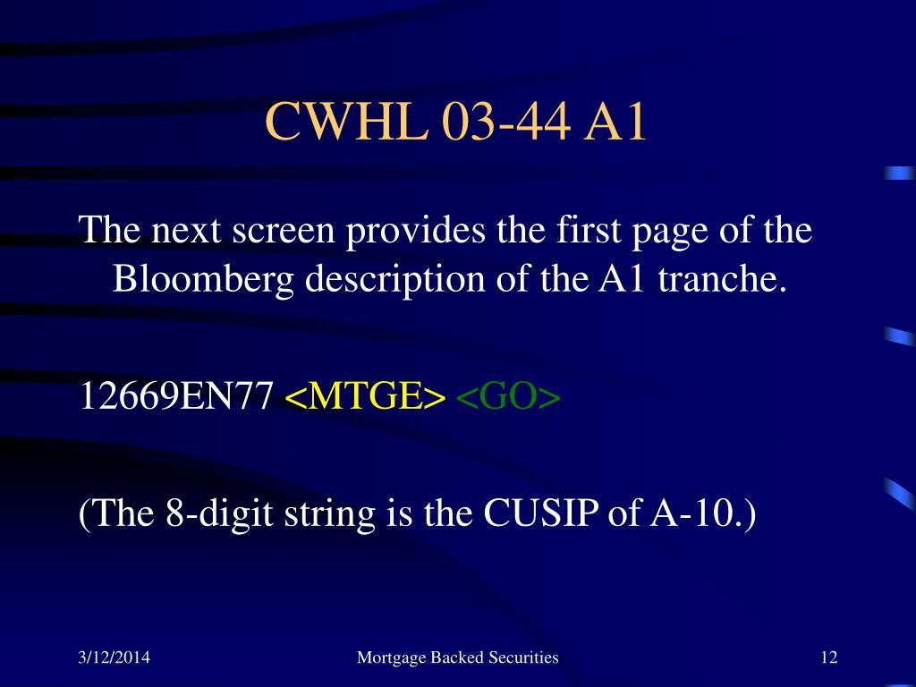 CWHL 03-44 A1