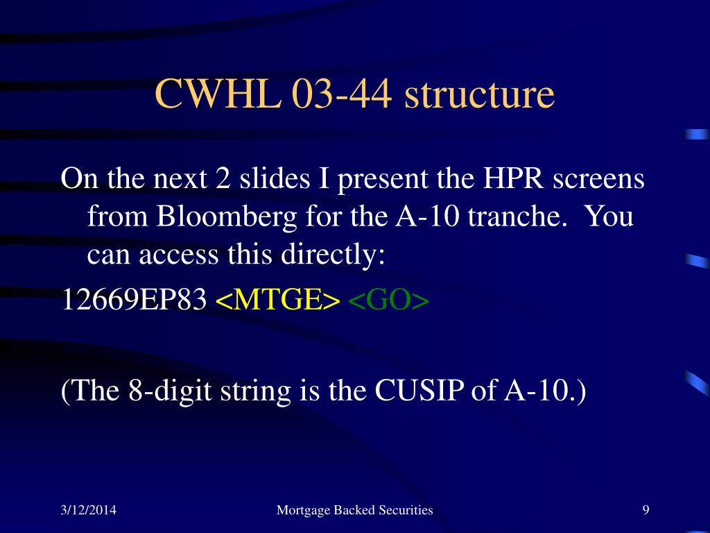 CWHL 03-44 structure