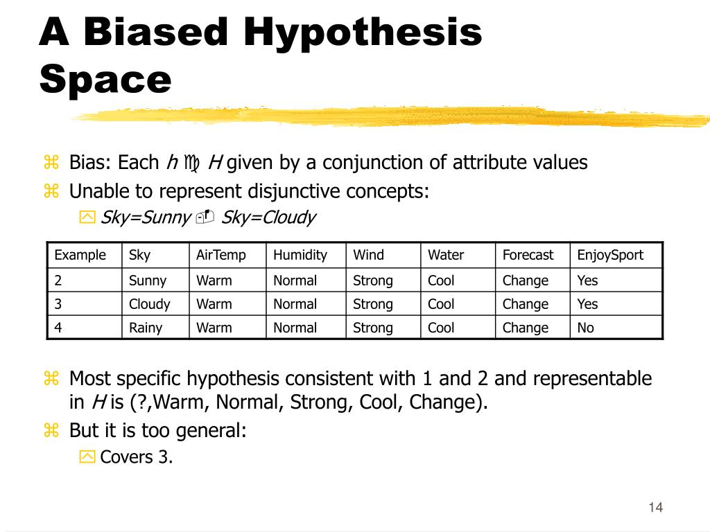 A Biased Hypothesis Space