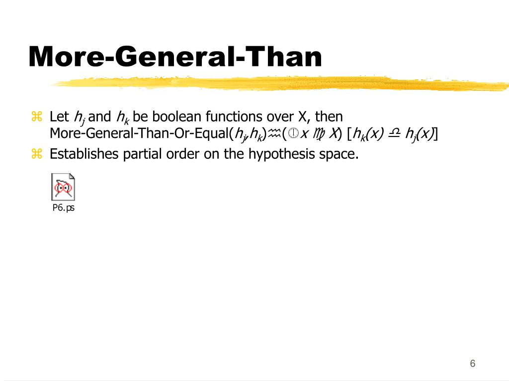 More-General-Than