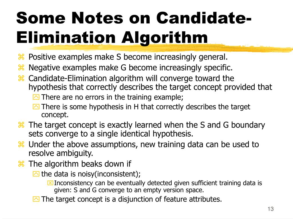 Some Notes on Candidate-Elimination Algorithm