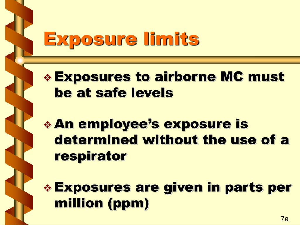 Exposure limits