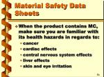 material safety data sheets20