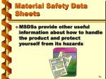material safety data sheets21