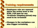 training requirements12