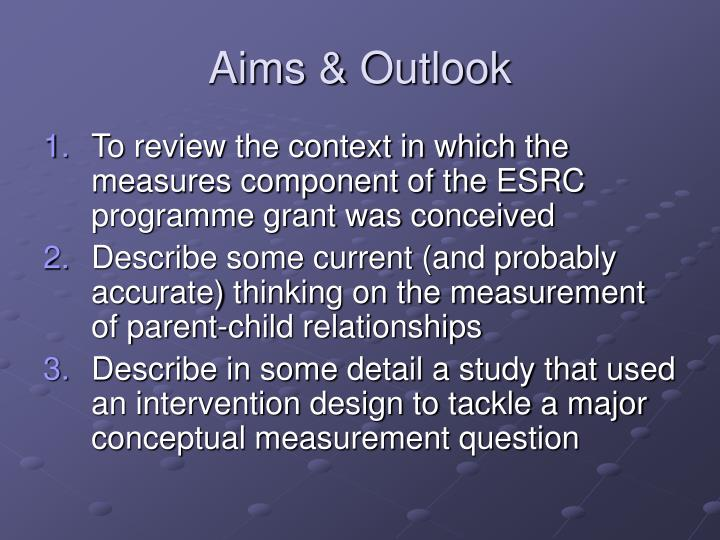 Aims outlook