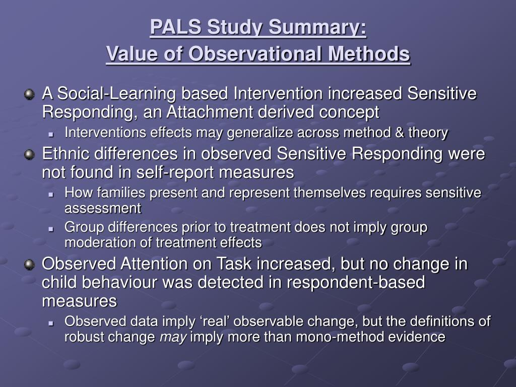 A Social-Learning based Intervention increased Sensitive Responding, an Attachment derived concept