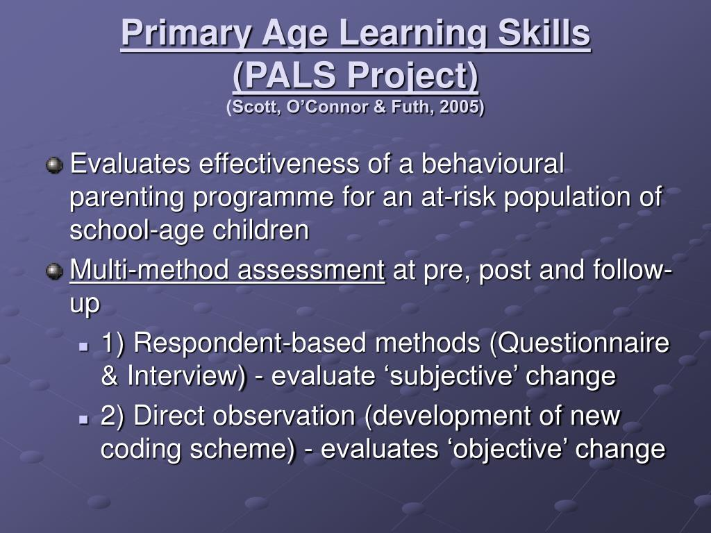 Primary Age Learning Skills