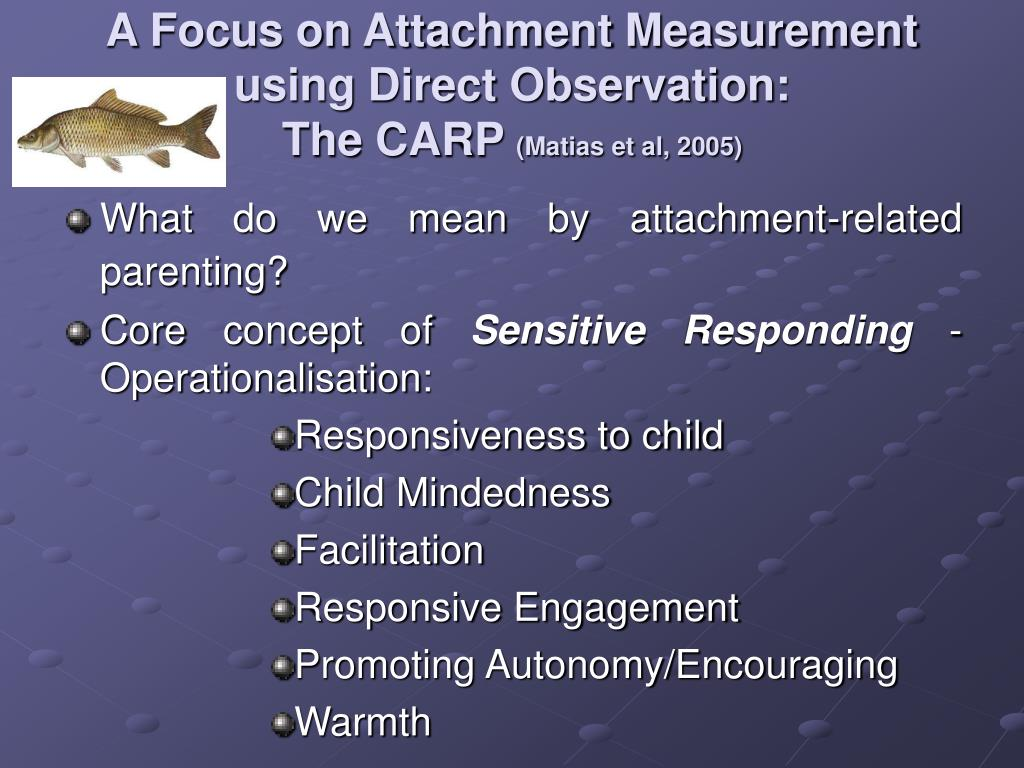 A Focus on Attachment Measurement using Direct Observation: