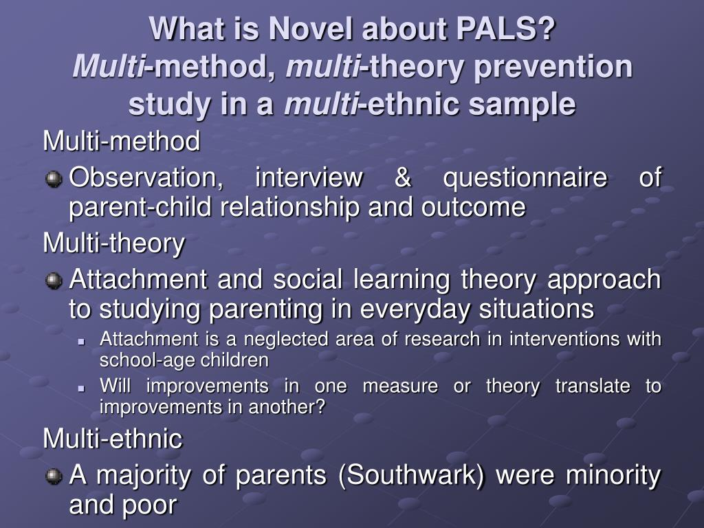 What is Novel about PALS?