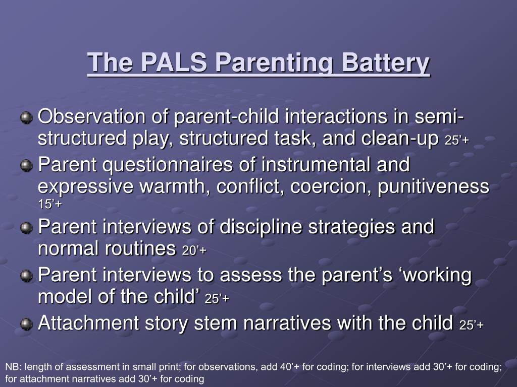 The PALS Parenting Battery