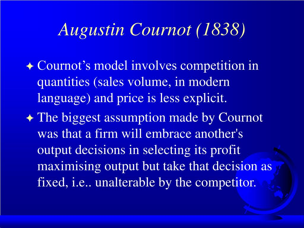 Augustin Cournot (1838)