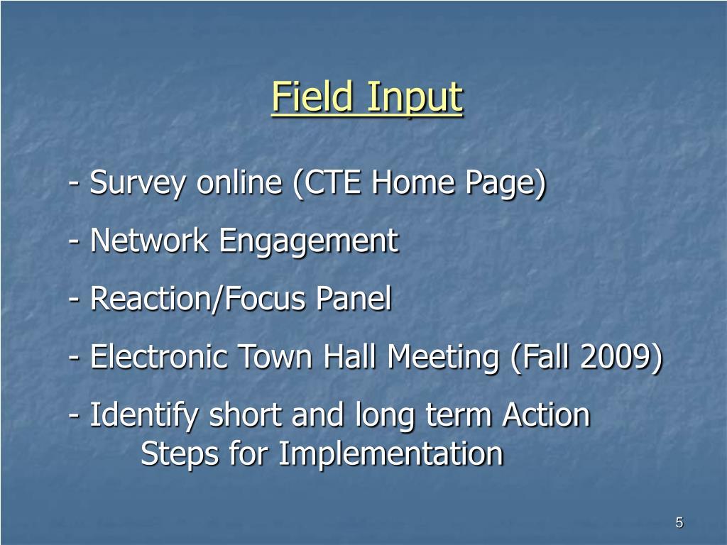 Field Input
