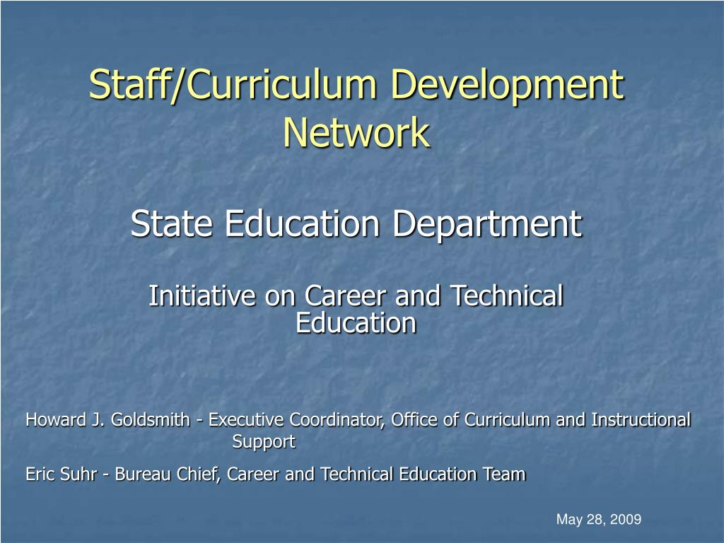 Staff/Curriculum Development Network