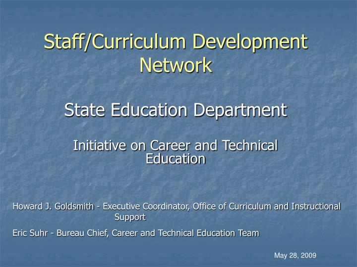 Staff curriculum development network