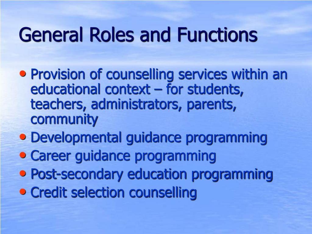 roles and function