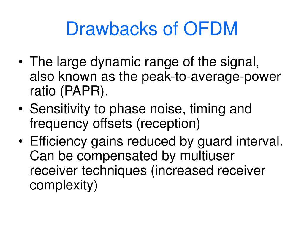 Drawbacks of OFDM