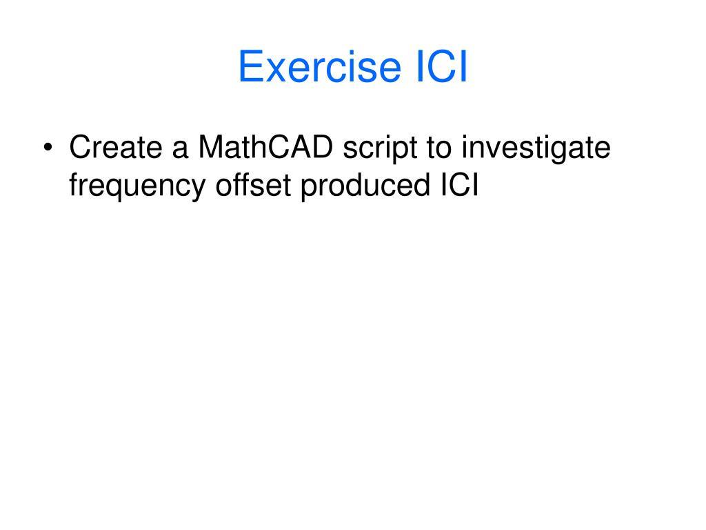 Exercise ICI