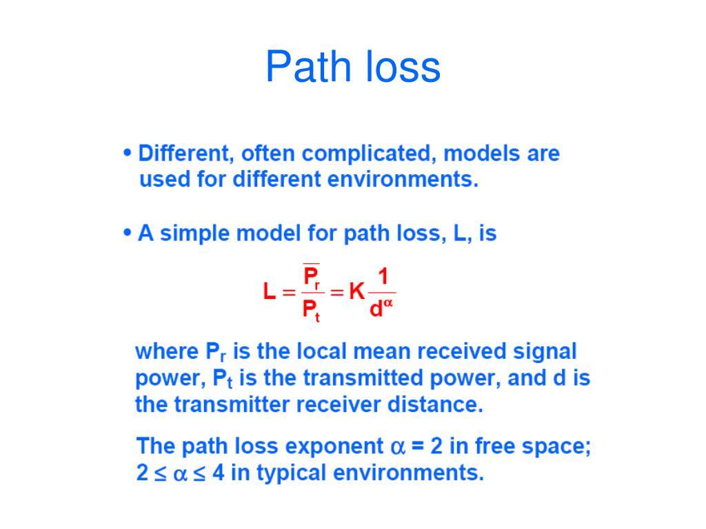 Path loss