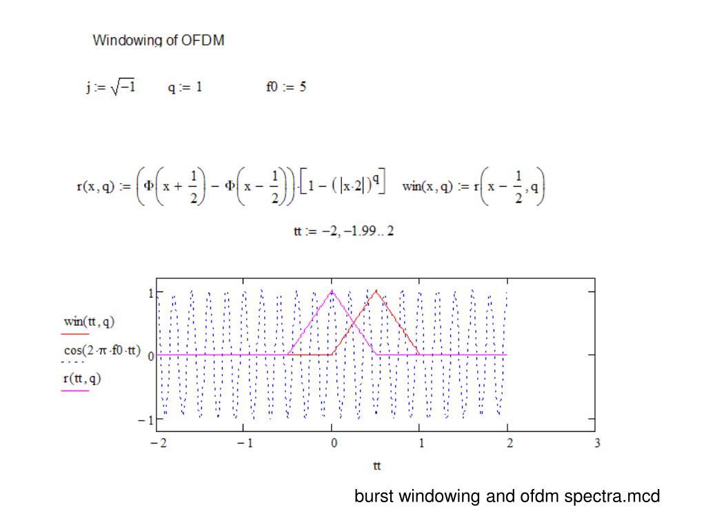 burst windowing and ofdm spectra.mcd