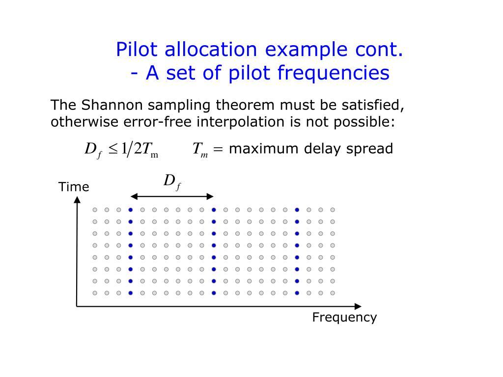 Pilot allocation example cont.