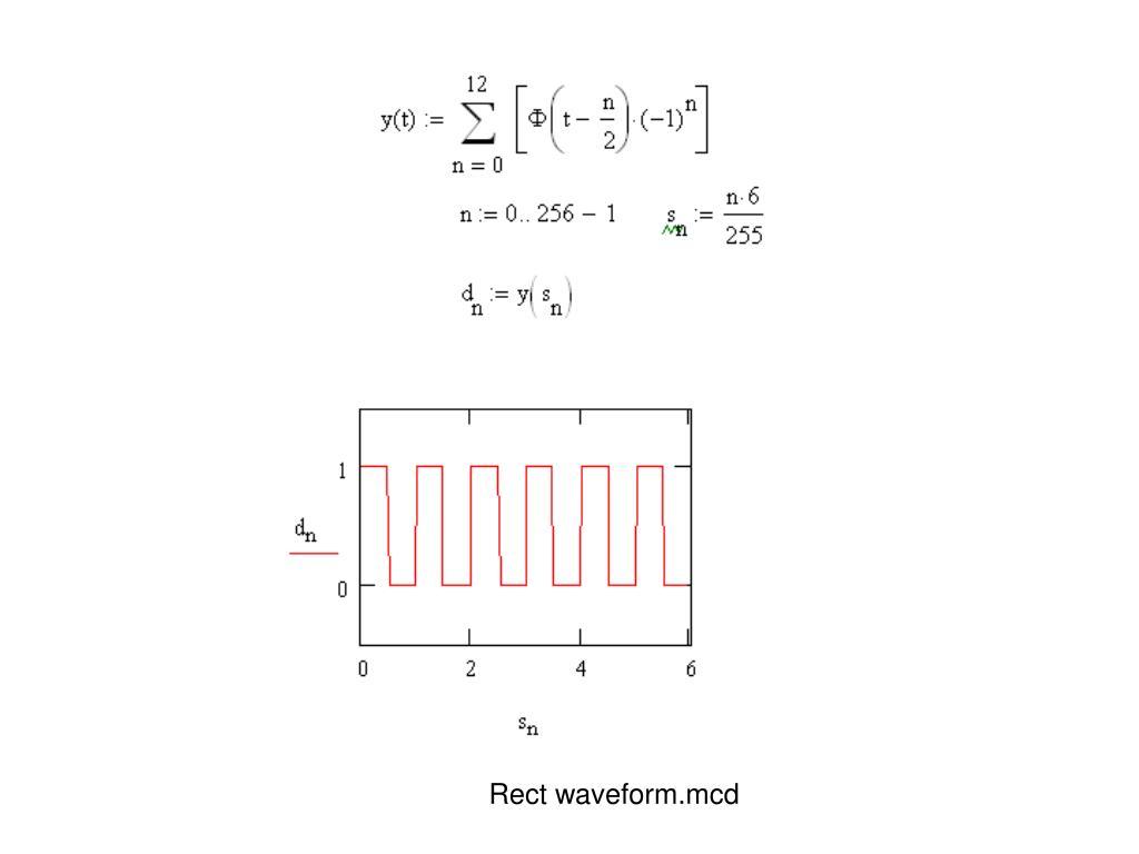 Rect waveform.mcd